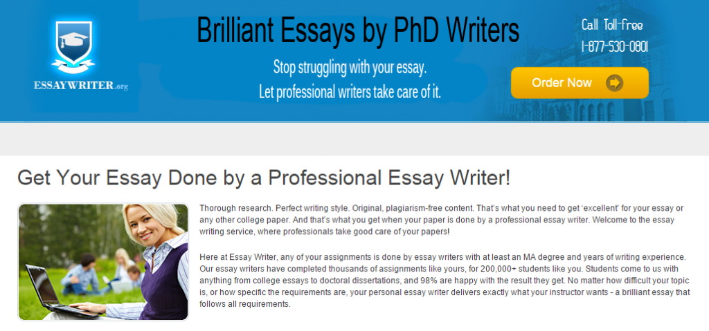 I want to write an essay online