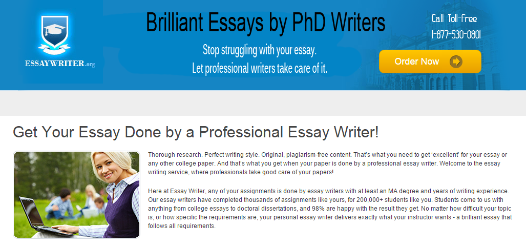 need help writing an essay from EssayWriter.org