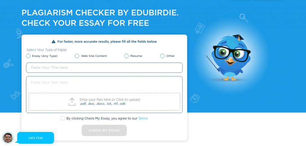 edubirdie plagiarism checker review