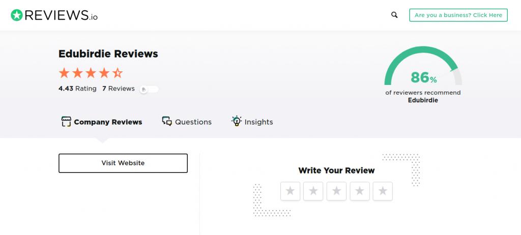 edubirdie review Reviews.Io