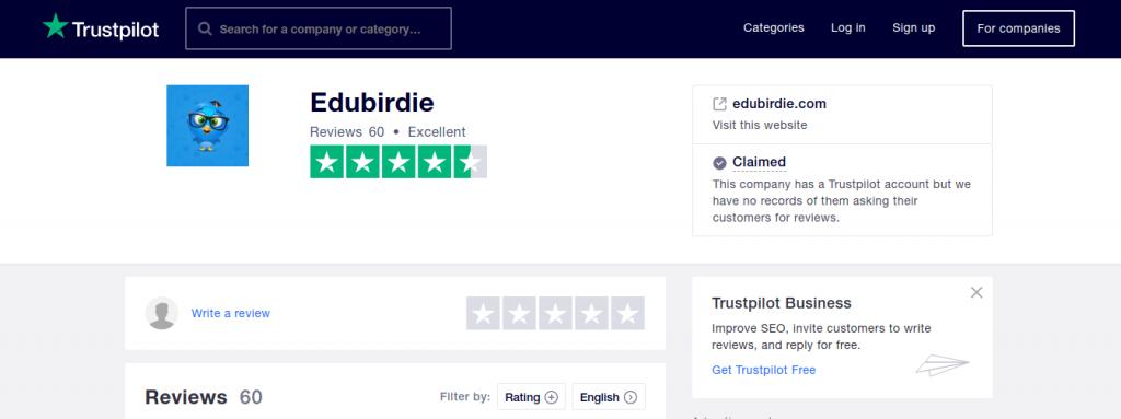 edubirdie review trustpilot